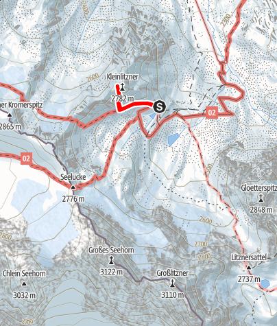 Karte / Klettersteig Kleinlitzner