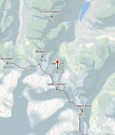 Karte / Ausstieg Klettersteig Kleinlitzner