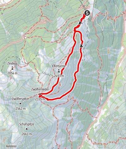 Kaart / Seven Summits - Elfer