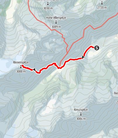 Mapa / Seven Summits - Rinnenspitze