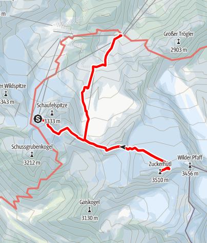 Mapa / Seven Summits - Zuckerhütl