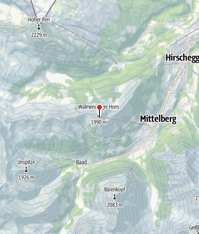 Karte / Gipfelstuba Walmendingerhorn