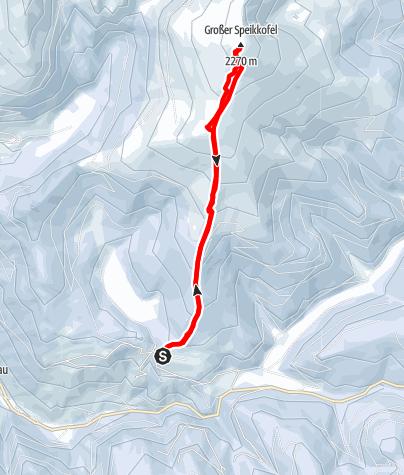 Karte / Großer Speikkofel (2270m) von St. Lorenzen