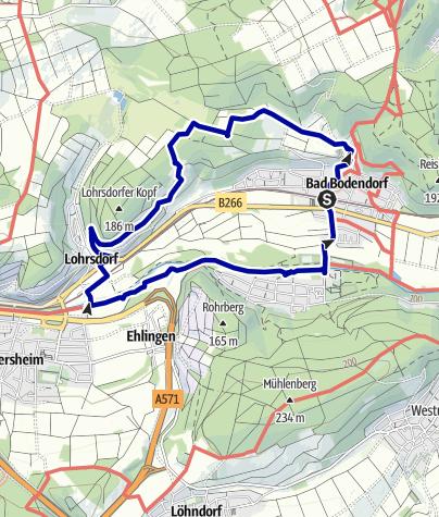 Karte / Bad Bodendorf Rundweg Nr. 3