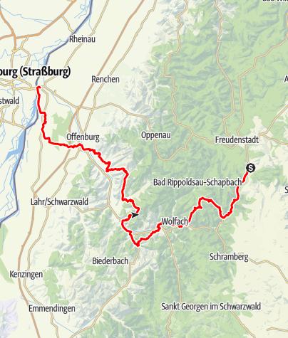 Karte / Kinzigtäler Jakobusweg Gesamt-Tour