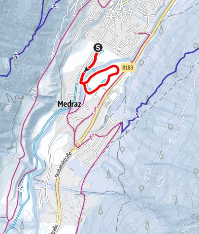 Kaart / Loipe Medrazer Runde (Nr. 2)