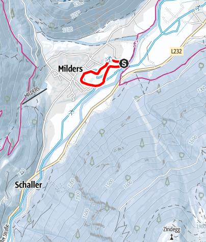 Карта / Loipe Nachtloipe Milders Nr. 4