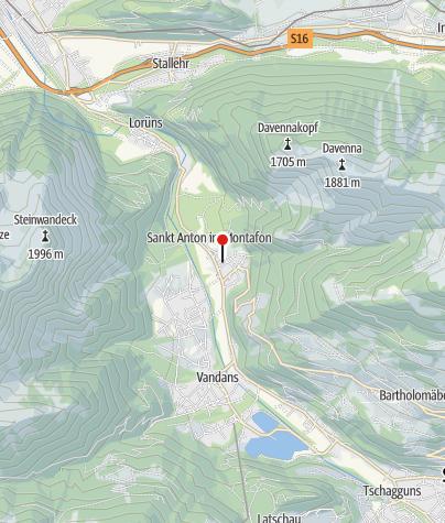 Karte / Ferienwohnung Bitschnau