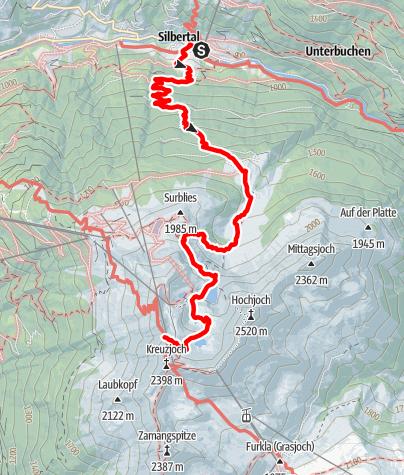 Karte / Montafoner Hüttenrunde - Silbertal bis Wormser Hütte