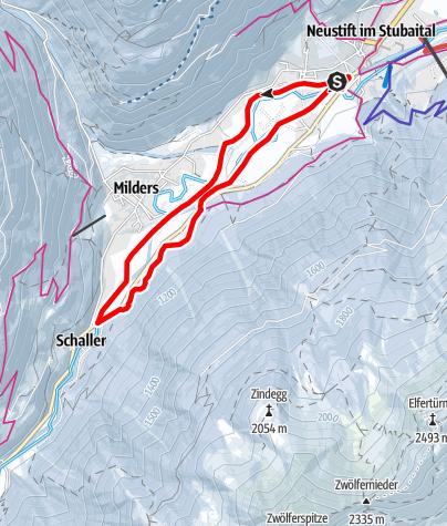 Map / Winterwandern: Neustifter Runde (Variante 1)