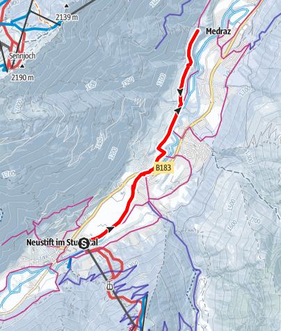 Map / Winterwandern: Neustifter Runde (Variante 2)