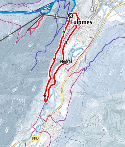 Mapa / Fulpmer Runde - Variante 1