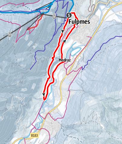 Karte / Winterwandern: Fulpmer Runde (Variante 1)