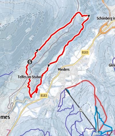 Karte / Telfer Wiesen: Variante 1