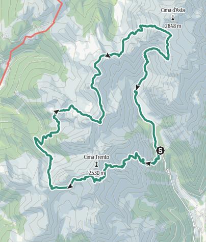 Cartina / Trekking Alta Via del Granito in senso orario
