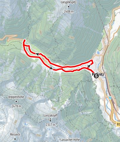 Karte / Tauerntalrunde (Stockerhütte)