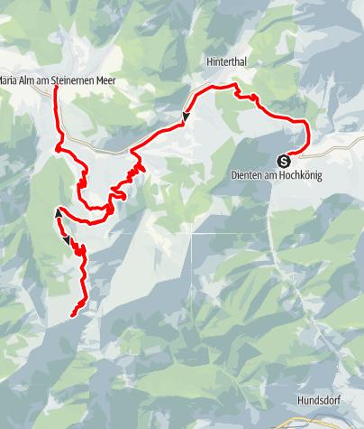Karte / Hochkönig Radtour - 4. Etappe