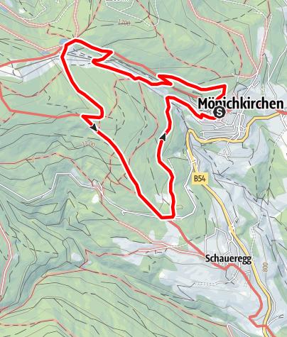 """Karte / """"Tut gut"""" Route 2 - Rundwanderweg"""