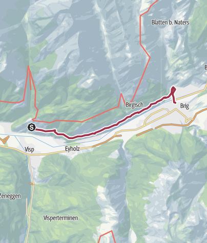 Karte / Lötschberger Südrampe, Verlängerung Eggerberg - Brig