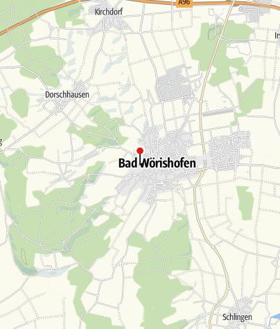 Karte / Schließfächer im Kurpark