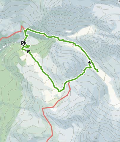 Karte / Pensa - Furschela da Colm - Alp d'Err - Bartg -  Pensa