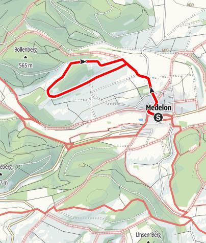 Map / Bärbergweg (A9) Medelon