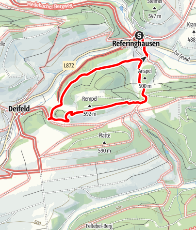 Karte / Burgweg (R3) Referinghausen
