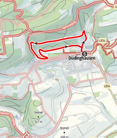 Karte / Grunewaldweg (D1) Düdinghausen