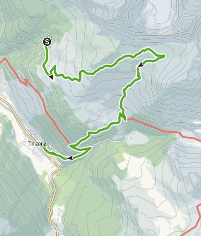 Karte / Plang la Curvanera - Lai Tigiel - Tinizong