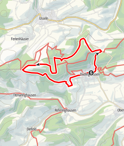 Karte / Ka-Lied-Weg (D2) Düdinghausen