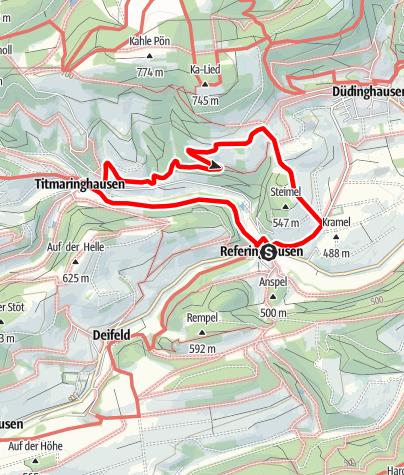 Karte / Steimelweg (R1) Referinghausen