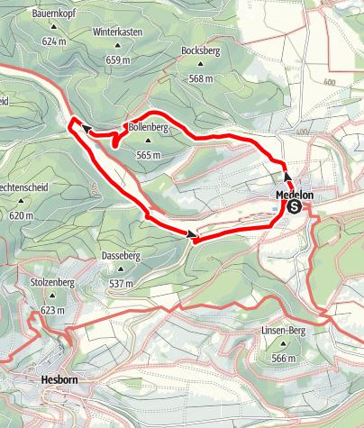 Map / Um den Bollenberg (A8) Medelon