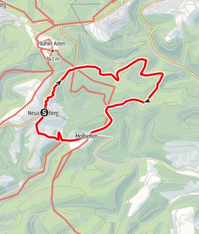 Karte / Bärenberg-Weg (N4) Start: Winterberg-Neuastenberg