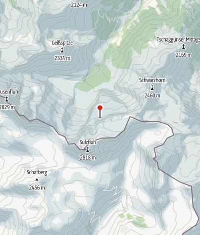 Karte / Einstieg Klettersteig Gauablick