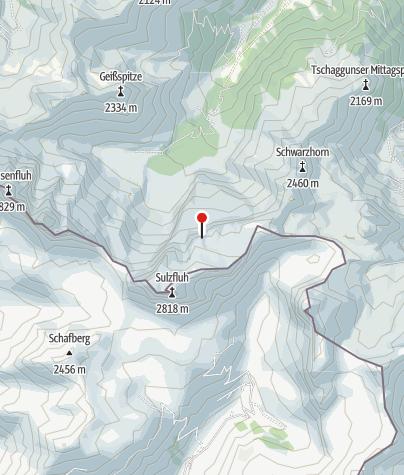 Karte / Ausstieg Klettersteig Gauablick