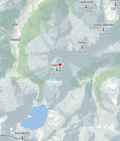 Kaart / Einstieg Klettersteig Saulakopf