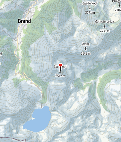 Karte / Ausstieg Klettersteig Saulakopf