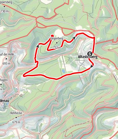 Karte / Kapellen-Weg (As2) Start: Winterberg-Altastenberg