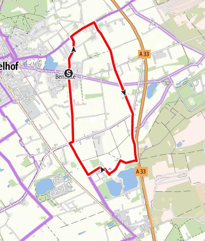 Karte / Hö 3 - Tour durch die Bentlake und Klausheide