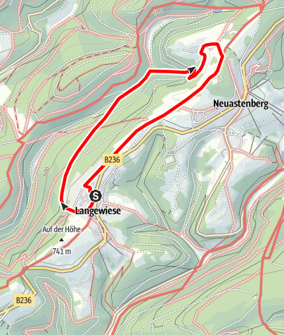 Karte / Lennetalweg (L2) Start: Winterberg-Langewiese