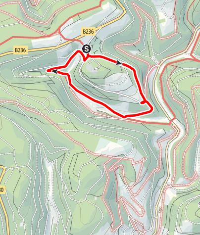 Karte / Saukopfweg (A2) Start: Winterberg-Hoheleye