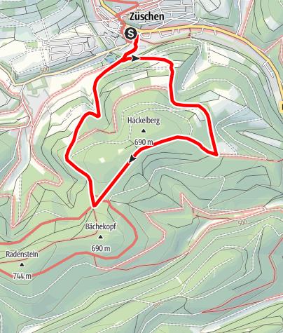 Karte / Züschen (Z1) Start: Winterberg-Züschen