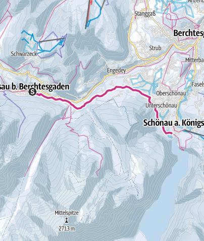 Karte / Winterwanderung von Ramsau zum Königssee