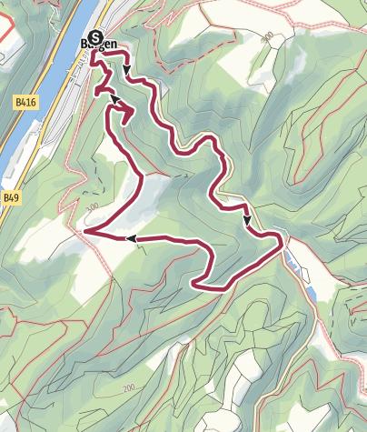 Karte / Moselsteig Seitensprung Borjer Ortsbachpädche