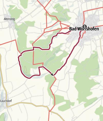 Karte / Runde über Osterlauchdorf und Hartenthal
