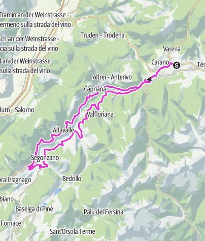 Cartina / Val di Cembra