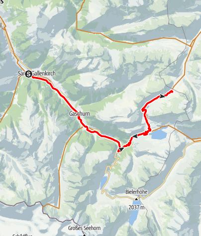 Map / Neue Heilbronner Hütte Tour