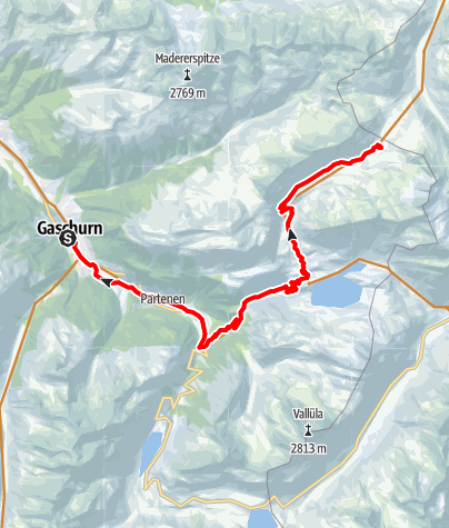 Karte / Neue Heilbronner Hütte Tour