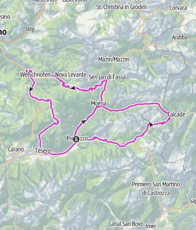 Map / Marcialonga Cycling Craft