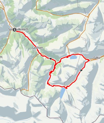 Map / Silvretta 3-Seen Tour